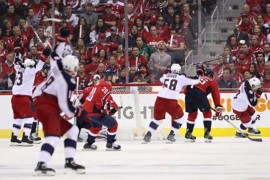 Panarin metió el gol en el tiempo extra para dejar en el hielo a los Capitals. NHL.com.