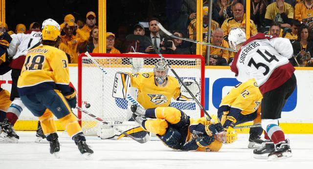Pekka estuvo excelente salvo dos goles del Avalanche. NHL.com.
