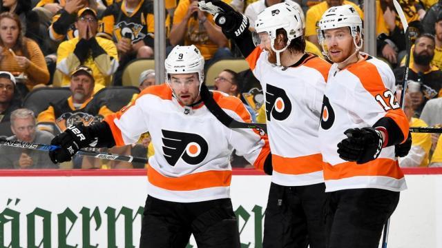 Los Flyers se repusieron de una humillación en le juego 1 vs los Penguins. NHL.com.