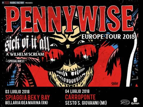 PENNYWISE: due date in Italia a Luglio assieme a SICK OF IT ALL e ... - tuttorock.net
