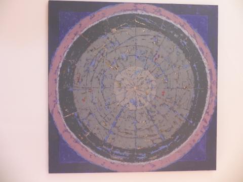 'Mandala Kosmosu' z cyklu 'Żywioły' - obraz Ewy Pełki (fot. Krzysztof Krzak)