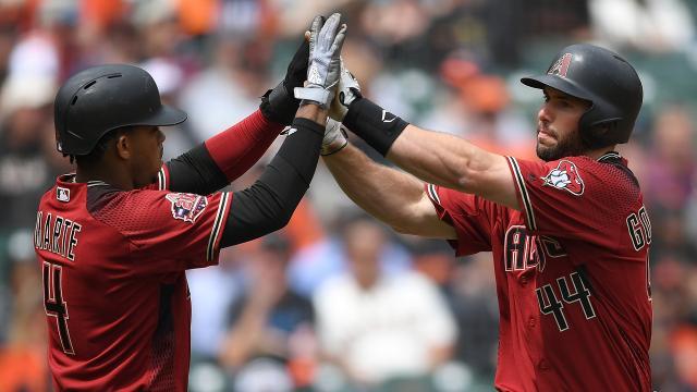 Paul Goldschmidt ya suma 10 remolcadas y ha subido su promedio a .240. MLB.com.