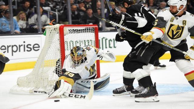 Fleury pudo ser un muralla en toda la serie de LA vs los Golden Knights. NHL.com.