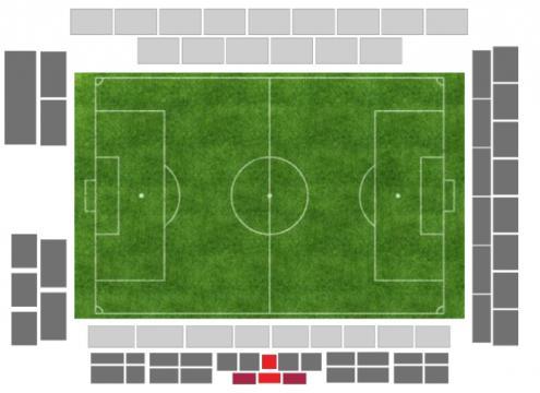 La mappa sul sito di ticketing dello stadio Zaccheria tutto esaurito