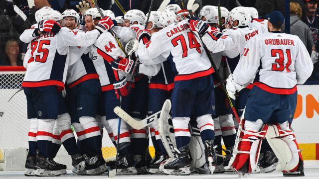 Los Caps siguen vivos en su serie vs Columbus a pesar de perder dos juegos en casa. NHL.com.