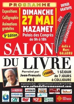 L'affiche du 9e Salon International du livre de Mazamet