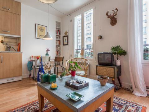 Un appartement bohème de 30m2 à Vincennes | Blog Déco | MYDECOLAB - mydecolab.com