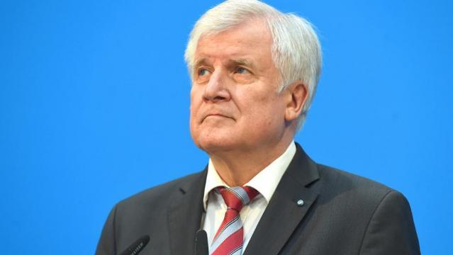 CSU Chef Horst Seehofer bei der Vorstellung des ausgehandelten Koalitionsvertrages am 7.Februar