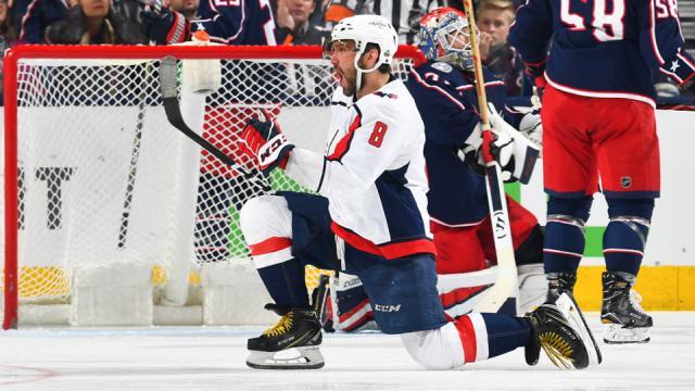 Ovechkin tuvo un gol en la victoria de 3-0 de Washington vs Columbus en el juego 4. NHL.com.