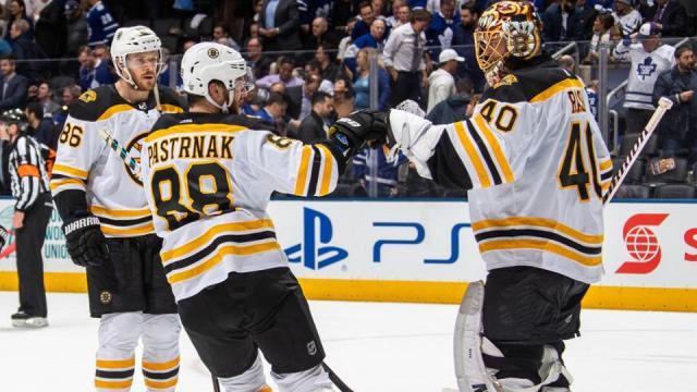 Pastrnak ya tuvo un juego de más de 3 puntos en la serie y el portero Rask ha sido fundamental para Boston en la serie vs Toronto. NHL.com.
