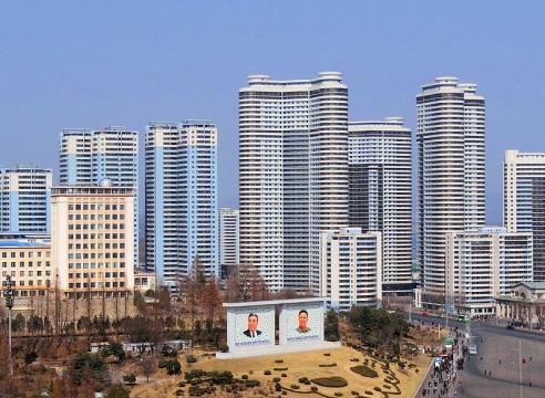 Modern high-rise buildings in Pyongyang, North Korea (Image credit – Bjorn Christian Torrissen, Wikimedia Commons)