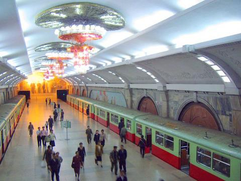 Pyongyang Metro, operating since 1973, is the deepest metro in the world (Image credit – Kok Leng yeo, Wikimedia Commons)