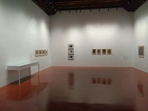 Las imágenes de Valverde en la sala principal del Centro.