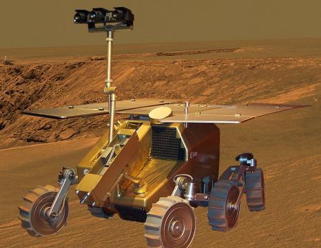Model of ExoMars craft. [Image source: Thomas Meier - Wikimedia Commons]