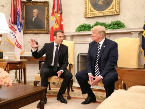 Trump affiche son désaccord frontal avec Macron sur l'Iran ... - challenges.fr