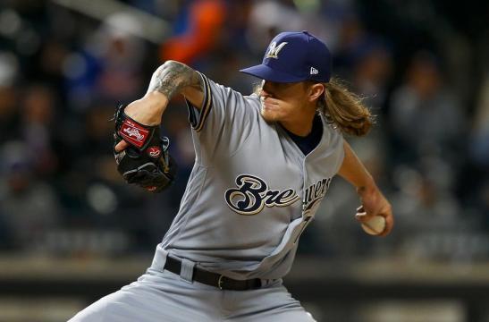 Hader ha sido la piedra angular del bullpen de los Brewers. MLB.com.