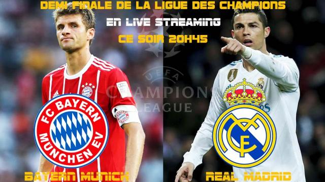 Bayern-Real Madrid : streaming live 2018 - demi finale aller ... - kapitalis.com