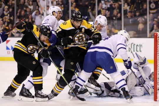 La línea de Bergeron, Marchand y Pastrnak fue clave en toda la serie. NHL.com.