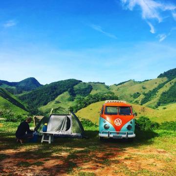 Dia de acampamento do casal aventura (Divulgação)