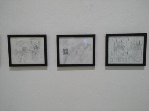 La gráfica monocromática de Víctor Sulser espanta; se presentan piezas de la serie Serpiente Verde.