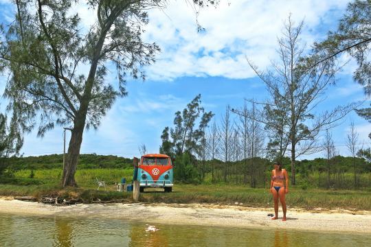 Viajar de Kombi é ter uma vista nova a cada dia (Divulgação)