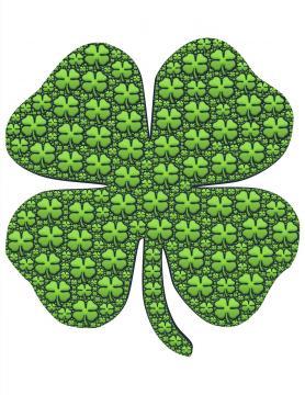 Trébol de 4 hojas, símbolo de suerte y fortuna (Pxhere)