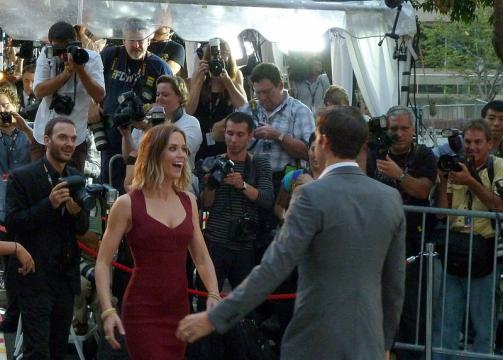Emily Blunt and John Krasinski at the premiere of Looper, Toronto Film Festival (Image credit – Gabbo T, Wikimedia Commons)