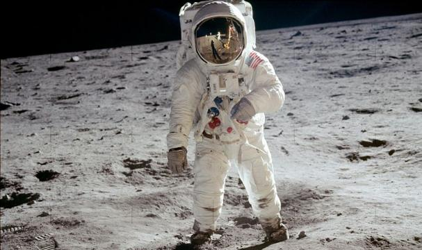 Astronaut Buzz Aldrin on the moon (Image credit – NASA, Wikimedia Commons)