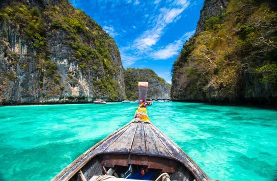 Ilhas Phi Phi, Tailândia, considerada uma das ilhas mais belas