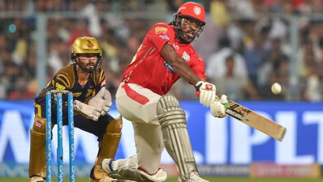 IPL 2018: Chris Gayle leaves Kings XI Punjab singing in the rain (Image via IPL2018/Twitter)
