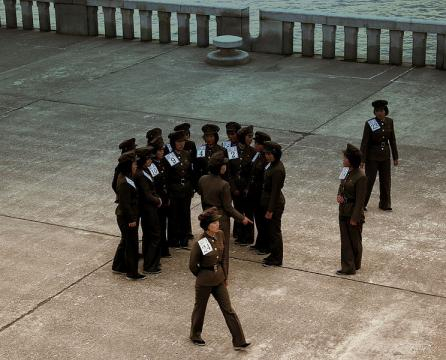 North Korea female soldiers (Image credit – Calflier001, Wikimedia Commons)