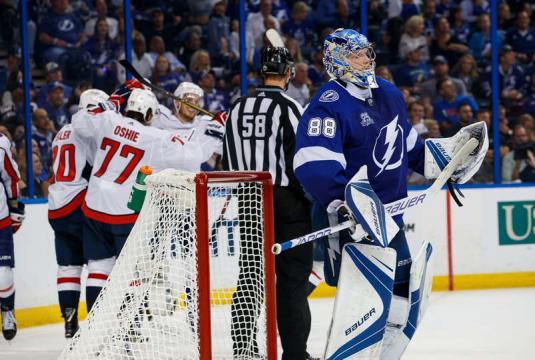 Vasilevskiy ha admitido goles malos en los dos partidos contra los Caps en Amalie Arena. NHL.com.