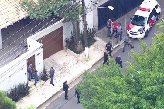 Bandidos que mataram delegado da PF são presos pela Polícia Militar (Foto:Reprodução/TV Globo)