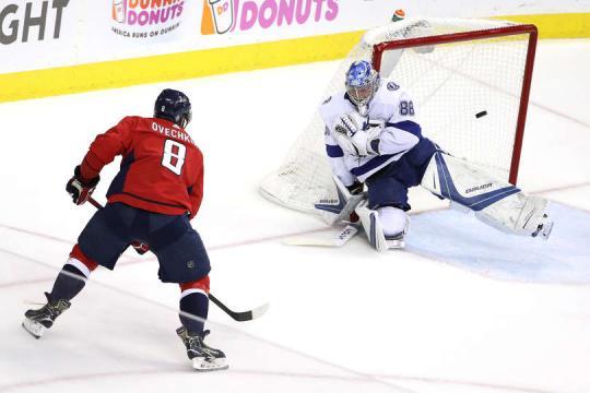 Ovechkin falló un gol clave en el juego 3. NHL.com.
