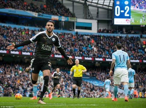 Manchester City 1-3 Leicester City: Stunning Riyad Mahrez strike ... - dailymail.co.uk