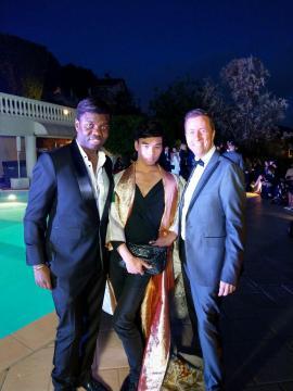 soirée défilé villa privée avec le prince Jean Barthélémy Bokassa