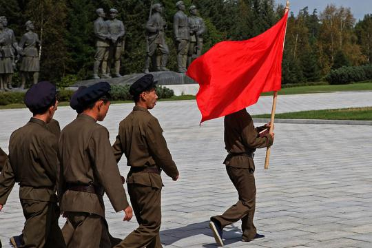 North Koreans paying their respect at a statue of Kim Il Sung in Samjiyon (Image credit – Roman Harak, Wikimedia Commons)