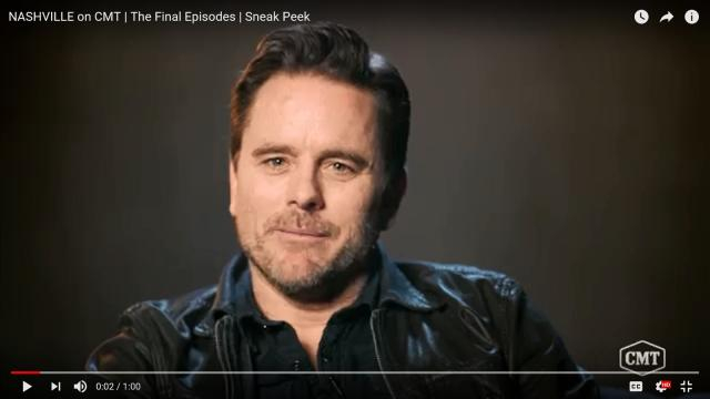 Charles Esten will confront his father as Deacon Claybourne on 'Nashville.' [image source: CMT/YouTube]