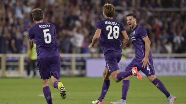 Alcuni giocatori della Fiorentina.