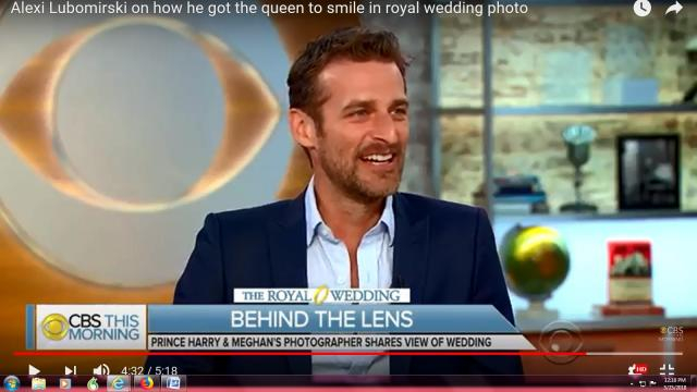 Alexi Lubomirski learned that Smarties make smiles in royal wedding portrait sessions. - [CBS News / YouTube screencap]