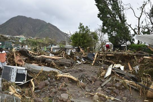 Devastation from Hurricane Maria (Image credit – Roosevelt Skerrit, Wikimedia Commons)