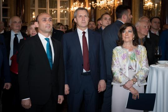 Roma - ricevimento centenario dell'Azerbaigian - - Mammad Ahmadzada - Benedetto della Vedova - Elisabetta Alberti Casellati