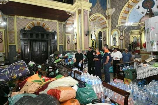 Igreja Católica auxilia as vítimas da tragédia