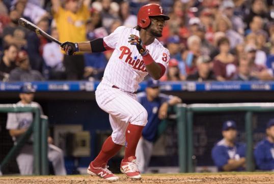 Odubel Herrera ha sido el motor ofensivo de los Phillies. MLB.com.