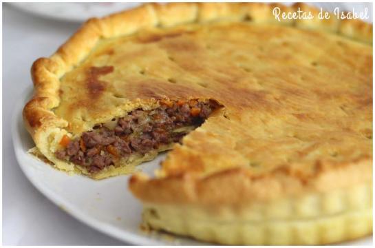 Pastel de carne con huevos - Recetas de Isabel - recetasdeisabel.com