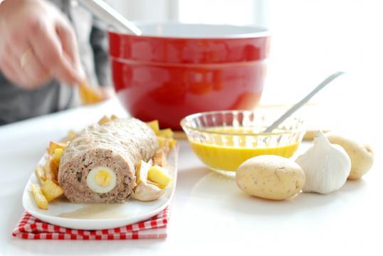 Rollo de carne y crema de zanahorias | Velocidad Cuchara - velocidadcuchara.com