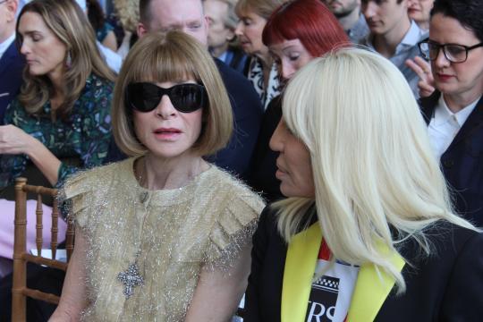 The Met: Anna Wintour & Donatella Versace/photo via Tracey Fitzpatrick