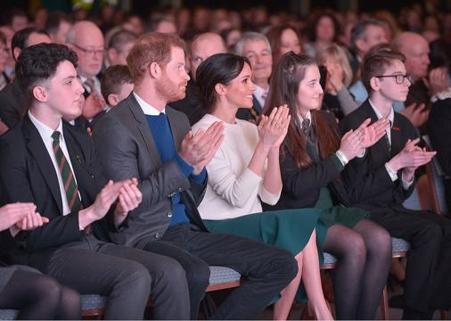 Prince Harry and Ms. Markle visit Belfast city center. [image source: Northern Ireland Office - Wikimedia Commons]