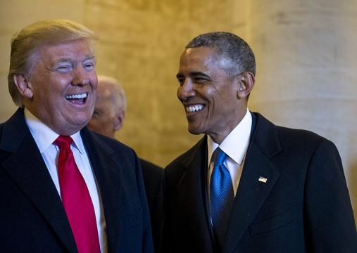 Donald Trump and Barack Obama at 58th Presidential Inauguration in Washington, D.C. - [Image source - Sgt. Marianique Santos / Wikimedia Commons]
