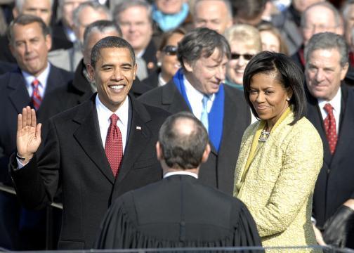 US President Barack Obama taking his Oath of Office – 2009. - [Image source - Cecilio Ricardo / Wikimedia Commons]